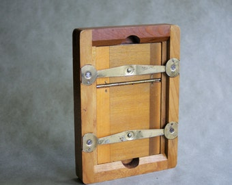 Contact Print Frame Phtography Film Developer Negative Holder Flower Press 4x6 Wood and Glass