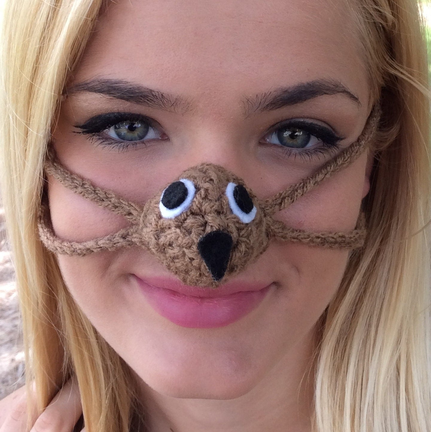 Crochet Nose Warmer : Who Owl Nose Warmer Nose Cozy Crocheted Tween by auntmartymadeit