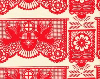 Free Spirit Fabrics Anna Maria Horner Pretty Potent Banner Days in Tomato - Half Yard
