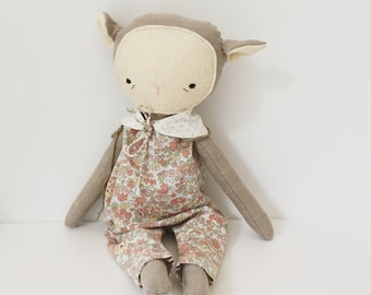 "SALE! the foundlings | handmade cloth lamb doll | ""juniper"""