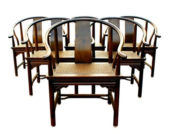 Summer Sale Regency Set of 6 Ming Style Dining Chairs by Drexel