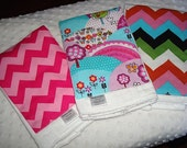 ON SALE Set of 3 Burps - Premium Boutique Style 6 ply Burp Cloths - Panels of Designer Fabric on Cloth diapers