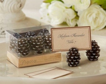 6 Pinecone Place Card Holders Wedding Fall Autumn Craft Supply