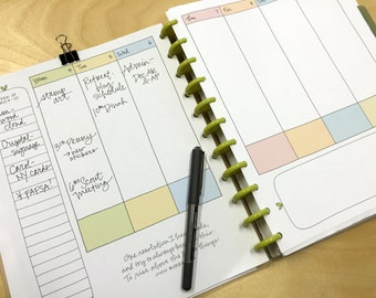 Planner Pages, Dated, School Year, with Handwritten Quotations (Printed Version, Limited Quantity)