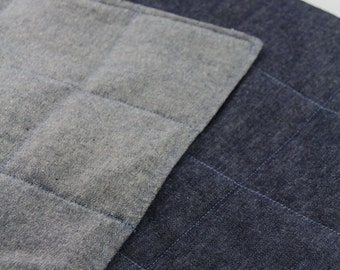 Denim Two Tone Weighted Blanket for Child or Lap Blanket for Adult