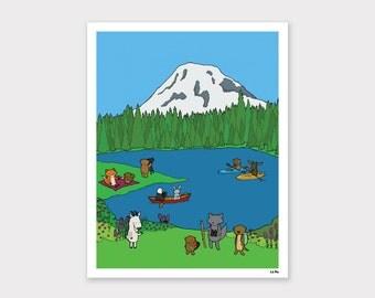 Mt. Rainier Print