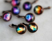 Galaxy Earrings, Celestial Dangles, Under 10