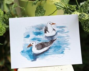 """Seagull Card - 5x7"""""""