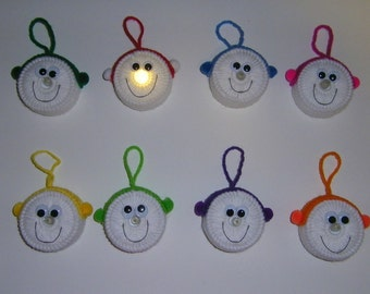 Lighted Snowman Ornaments