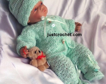 Coat, bloomers, hat and shes Baby Crochet Pattern (DOWNLOAD) 21