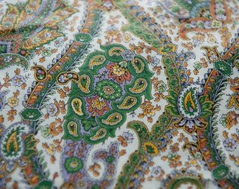 Stylized Paisley - Vintage Fabric 50s 60s Novelty Colorful 36 in wide