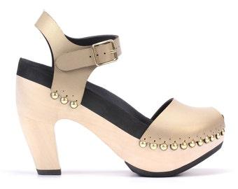 Super High Heel with Ankle Strap | Custom, Vegan, Handmade | 6 Color Options