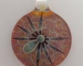 Glass Spider Compression Pendant - Contemporary Lampwork