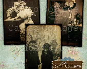Vintage Macabre, Collage Sheet, Digital Images, Curiosity Cabinet, Printable Tags, Horror Images, Occult Images, Gothic, Halloween