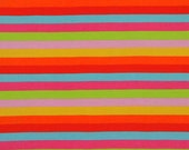 Rainbow stripes knit 1 yard cotton lycra