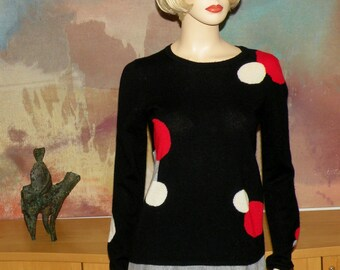 Cashmere Abstract Sweater by Peck and Peck S to M