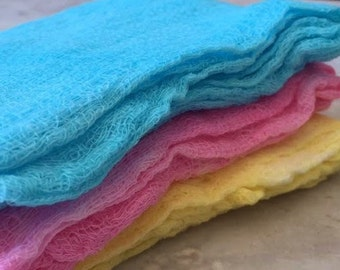 Hand Dyed Cheesecloth Set of 3 Baby Love