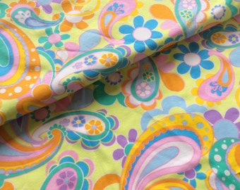 Floral / paisley fabric : 1 yard
