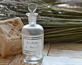 Lovely Old Etched Label French Apothecary Bottle