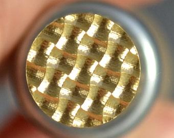 Leonardo Lampwork Weave Brass Stamp Lampwork Tool Imprinter