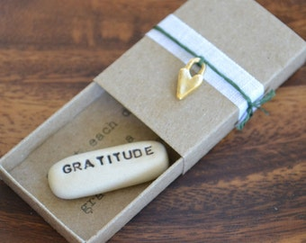 Grateful Heart Message Box with Fabric Gift Bag