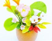 Miniature Polymer Clay Flowers Handmade Supplies for Dollhouse 1 piece