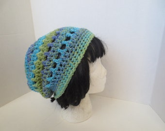 Slouchy Hat - Tam - Beanie - Pastel Hat - Crochet Slouchy hat