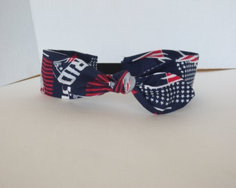 Patriots - Ajustable headbands - bow headband- NFL headbands