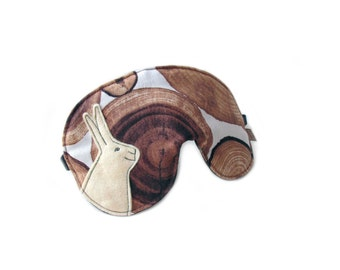 eyemask rabbit log adjustable night mask