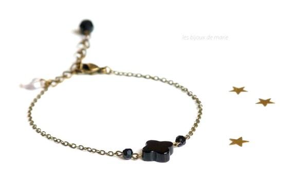 Delicate minimalist black boho bracelet,Delicate bracelet,Minimalist bracelet,Delicate black bracelet,Black boho bracelet,Black boho jewel