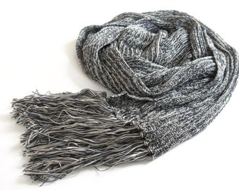 Eco friendly Knitted Shawl Wrap - Vegan knitting fashion