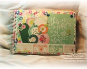 this is what its all about Mini Scrapbook - 12 decorated pages