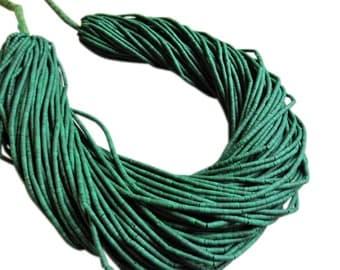 Green Turquoise Heishi, Green Turquoise Beads, Turquoise Tube Shape, SKU 2951A