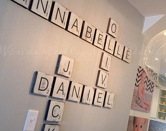 Large Letter Tiles for the wall . Home Decor . Gallery Wall Letters . Rustic Home Decor . Wood Signs