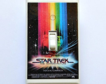 Classic sci-fi movie poster single switchplates & MATCHING SCREWS- Science fiction movies E.T. Star Trek vintage movie posters Blade Runner
