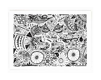 Bicycle Gypsies - A3 Archival Fine Art Print