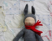 Abercrombie, Wee Baby doll by Fig and Me, waldorf inspired natural toys, bunny doll, FREE SHIPPING.