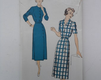 Vintage 50s Shirtwaist Dress Pattern New York 641 Size 16 Bust 34 UNCUT