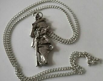 American Pewter Lucky Irish Leprechaun Pendant Necklace