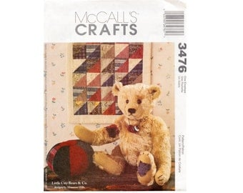 Craft Pattern - Bear - Doll Quilt and Fabric Ball Sewing Pattern McCall's 3476 toys, stuffed animal