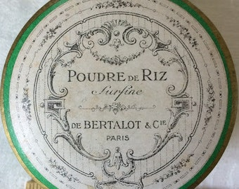 Antique French Poudre de Riz De Bertalot  Paris NOS, Powder, Free Shipping