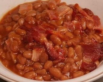 Boston Baked Beans Mix, Baked Bean Mix, Dried Beans, Dried Navy Beans, Bean Seasoning Mix, Slow Cooker, Salt Free Beans, All natural Beans