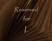 RESERVED. Alchemic leather journal, Natural brown leather, Custom decoration
