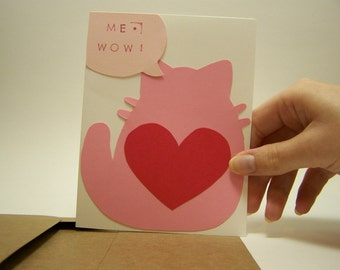 me wow valentine card and envelope