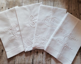 Set of 4 Guest Towels Personalized