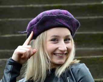 Handmade Felt hats / Unique Felt Hats / Felted hats / millinery hat Pixie hat