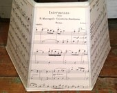 Music Lamp Shade Lampshade Vintage Sheet Music - 7x12x8 Hex Washer - Music Room Decor - For all lovers of music!