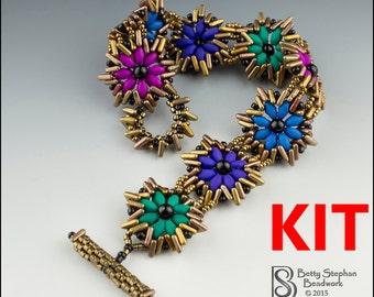 Try-a-Tri Bead multicolor Beadwoven Bracelet Kit- full kit or refill beads