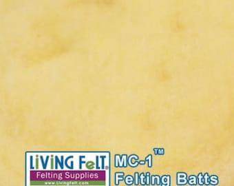Wool Fiber MC-1 Merino Cross Felting Batt Needle Felting Wet Felting