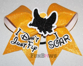 Dumbo I Don't Just Fly, I soar !  Cheer Allstar Bow by FunBows !